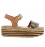 Kanna Damesschoenen van type sandalen 20160 teja roble van leer