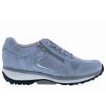 Xsensible Damesschoenen van type sneakers jersey 30042.2 273 baby blue van leer