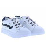 Shoesme Jongensschoenen van type sneakers sh20s036-d white blue van leer