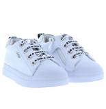 Shoesme Meisjesschoenen van type sneakers sh20s004-d white silver van leer