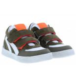 Clic! Jongensschoenen van type klittebandschoenen 20184 kaki van leer