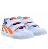 Clic! Jongensschoenen van type klittebandschoenen 20184 blanco van leer