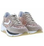 Clic! Meisjesschoenen van type sneakers 20101 nougal plata van leer