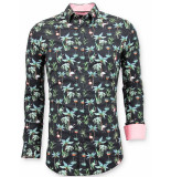 Tony Backer Casual overhemden digitale bloemen print
