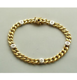 Christian 14 karaat bicolor gouden armband met diamant