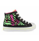 Skechers Neon muse 4025l/bknp / roze / groen