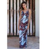 Chic by Lirette Maxi jurk Tize - Blauw