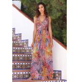 Chic by Lirette Halter jurk Avellana - Tropical Rood