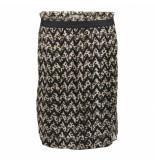 Geisha 06567-20 999 rok chiffon zigzag & leopard black/sand combi