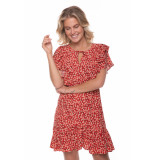 Colourful Rebel 8314 viva flower mini dress women red/ white -