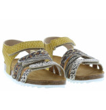 Develab Meisjesschoenen van type sandalen en slippers 48248 399 yellow van leer