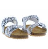 Develab Meisjesschoenen van type sandalen en slippers 484 859 silver van leer