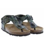 Kipling Jongensschoenen van type sandalen en slippers gubbi 2 khaki van leer