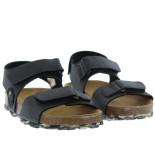 Develab Jongensschoenen van type sandalen en slippers 48163 558 kaki van leer