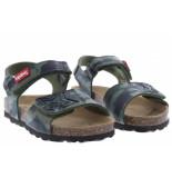 Kipling Jongensschoenen van type sandalen en slippers gubbi 3 khaki van leer