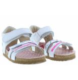 Shoesme Meisjesschoenen van type sandalen en slippers bi20s080-a white croco van leer