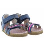 Shoesme Meisjesschoenen van type sandalen en slippers bi20s080-d blue metal van leer