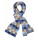 Profuomo Scarf blue motif pp1s30009b/m