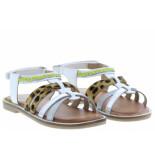 Gioseppo Meisjesschoenen van type sandalen en slippers 58890 blanco van leer