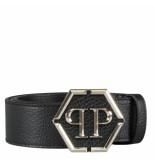 Philipp Plein Leather belt hexagon