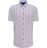 Fynch-Hatton Heren overhemd korte mouw check button-down casual
