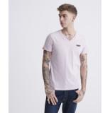 Superdry M1010032a crew neck t-shirt t7l chalk pink -