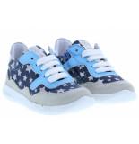 Shoesme Meisjesschoenen van type veterschoenen rf20s011-d white blue van leer