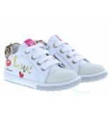 Shoesme Meisjesschoenen van type veterschoenen ef20s008-a white van leer