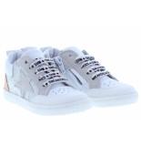 Shoesme Meisjesschoenen van type veterschoenen ur20s018-i white van leer