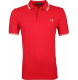 Fred Perry Twin tipped polo j95 red white champagne -