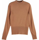 Scotch & Soda Lightweight knit with fitted waist camel melange
