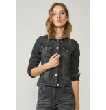 Summum 1s989-5050 basic truck jacket denimu denim black