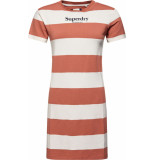 Superdry Darcy striped t shirt dress biscuit