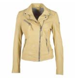 Gipsy Gipsy labagv leather jacket pale yellow