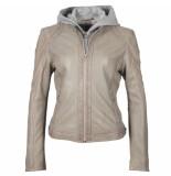 Gipsy Gipsy ggaelly lamas leather jacket lt grey
