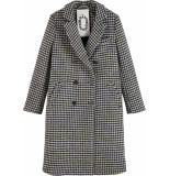 Maison Scotch Double breasted tailored coat in wo tones