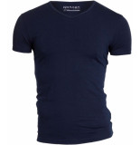 Garage Basis t-shirt v-hals bodyfit blauw