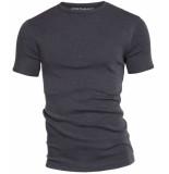 Garage Basis t-shirt ronde hals semi bodyfit antraciet