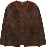 10 Feet Animal jacquard fur knit cardigan