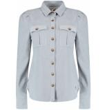 Harper & Yve Hailey l/s blouse blue-grey