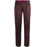 10 Feet Tailored pants in flowy logo print plum