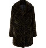Gipsy Chandi coat faux fur olive leo