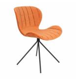 Zuiver Chair omg velvet, oranje set