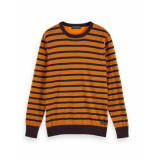 Scotch & Soda 158599 0218 classic striped cotton crewneck pullover -