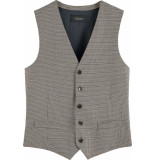 Scotch & Soda Classic yarn-dyed structured gilet combo c