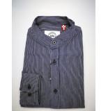 Kronstadt Heren overhemd johan henley oxford streep mao kraag
