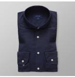 Eton Heren overhemd fine twill zijde extra cutaway slim fit