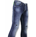 True Rise Gescheurde broek met paint drops skinny jeans