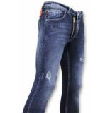 True Rise Jeans met paint drops skinny fit