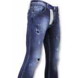 True Rise Paint drops broek skinny fit jeans